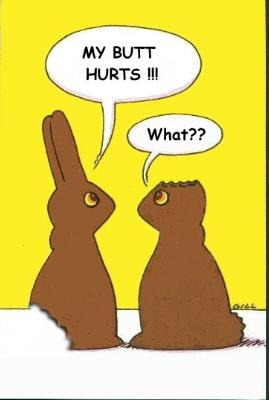 Happy Easter Chocolate Bunnies