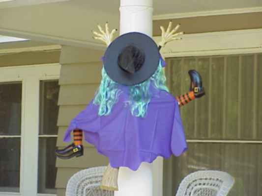Crashed Witch Halloween Decorations Crashed Witch Halloween